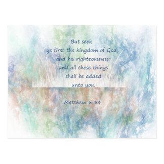 Escritura de la biblia de dios de YE primer de la Postales