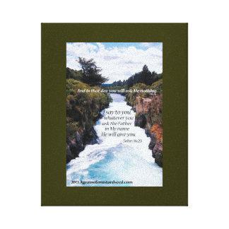 Escritura de la biblia inspirada lona estirada galerias