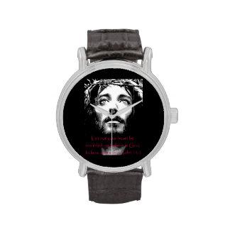 Escritura de la biblia relojes de pulsera