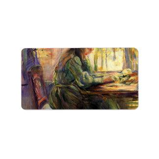 Escritura de la chica joven de Berthe Morisot Etiquetas De Dirección