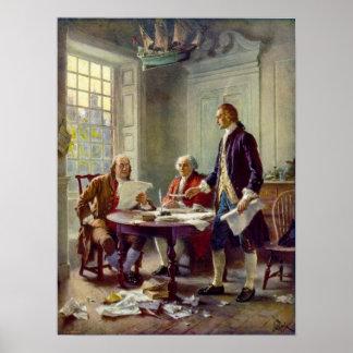 Escritura de la Declaración de Independencia Ferri Póster