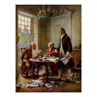 Escritura de la Declaración de Independencia Posters