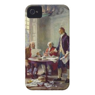 Escritura de la Declaración de Independencia por F iPhone 4 Case-Mate Funda