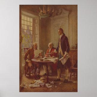 Escritura de la Declaración de Independencia por F Posters
