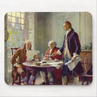 Escritura de la Declaración de Independencia Alfombrillas De Ratones