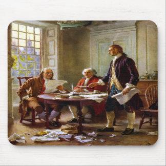 Escritura de la Declaración de Independencia Tapetes De Ratón