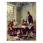 Escritura de la Declaración de Independencia Tarjeta Postal