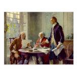 Escritura de la Declaración de Independencia Postales