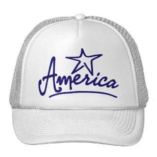 Escritura de la estrella de América Gorros