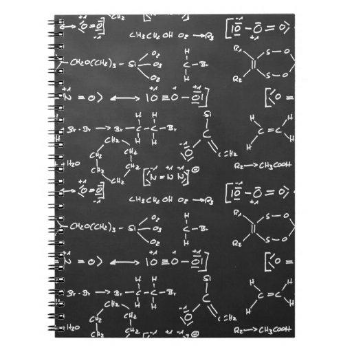Escritura de la fórmula química cuadernos