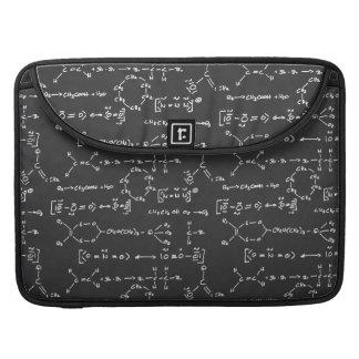 Escritura de la fórmula química fundas para macbooks