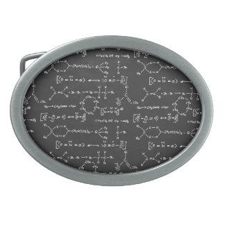Escritura de la fórmula química hebillas cinturón ovales