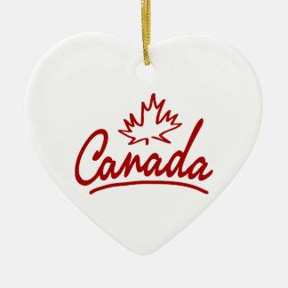 Escritura de la hoja de Canadá Adorno De Cerámica En Forma De Corazón