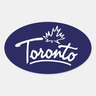 Escritura de la hoja de Toronto Calcomania De Óval