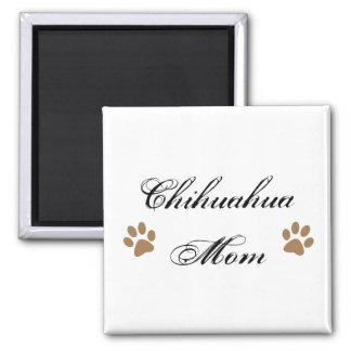 Escritura de la mamá de la chihuahua con Pawprints Imán Cuadrado