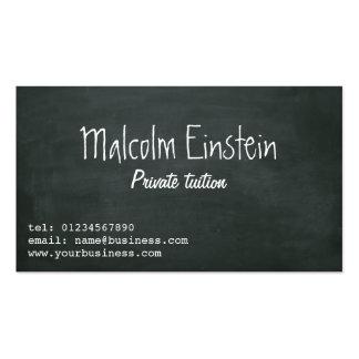 Escritura de la pizarra del profesor particular pr tarjeta de visita