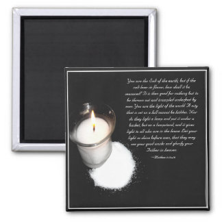 Escritura de la sal y de la luz imán cuadrado