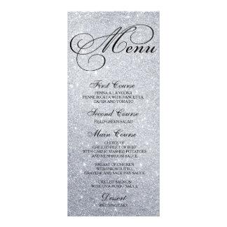 Escritura de la tarjeta del menú de la cena de tarjeta publicitaria personalizada