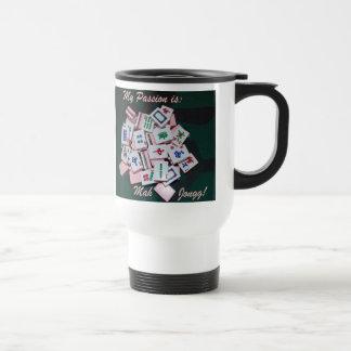 escritura de la taza del viaje del jongg del mah