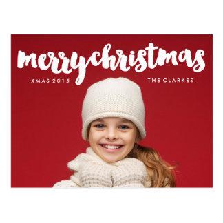 Escritura de las Felices Navidad de la diversión Tarjetas Postales