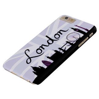 Escritura de Londres en el cielo de Union Jack y Funda Barely There iPhone 6 Plus