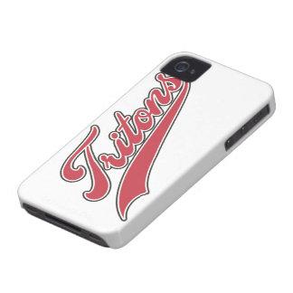 Escritura de los tritones Case-Mate iPhone 4 carcasas