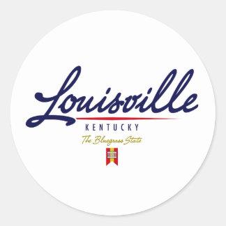 Escritura de Louisville Pegatina Redonda