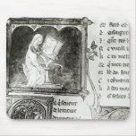 Escritura de Marie de Francia Alfombrillas De Raton