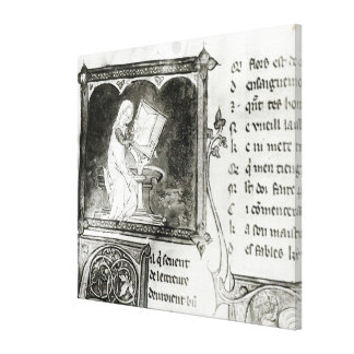 Escritura de Marie de Francia Impresión En Lienzo