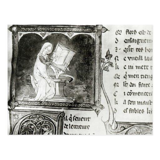 Escritura de Marie de Francia Postales
