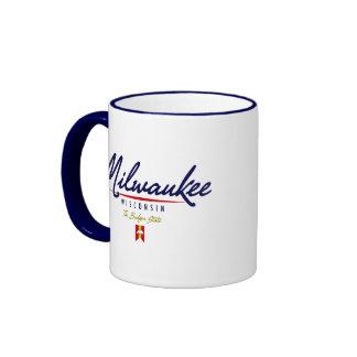 Escritura de Milwaukee Taza De Café