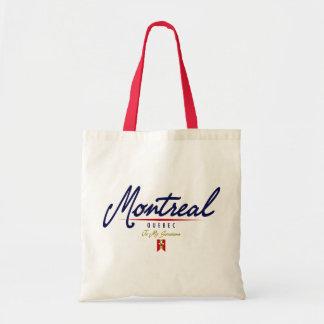 Escritura de Montreal Bolsas Lienzo