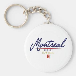Escritura de Montreal Llavero Personalizado