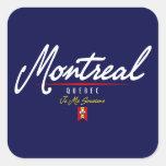 Escritura de Montreal Pegatina Cuadrada