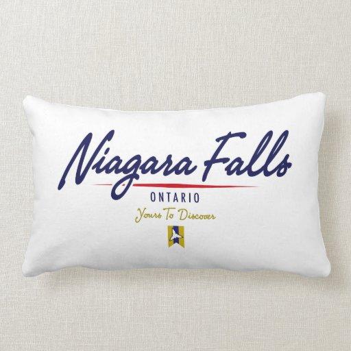 Escritura de Niagara Falls Almohada
