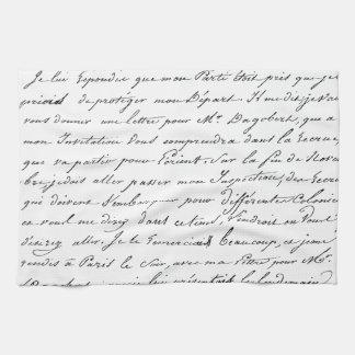 Escritura de París del francés Toallas De Mano