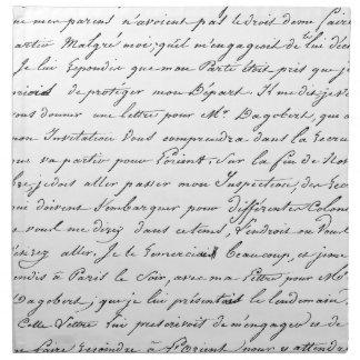 Escritura de París del francés Servilleta