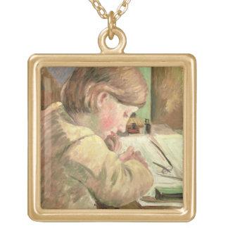 Escritura de Paul, c.1894 (aceite en lona) Colgante Cuadrado