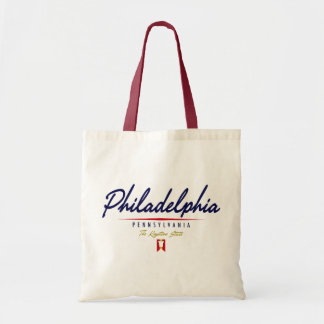 Escritura de Philadelphia Bolsa Tela Barata