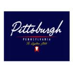 Escritura de Pittsburgh Tarjeta Postal