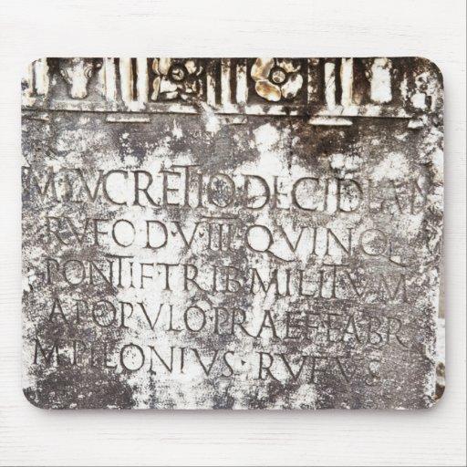 Escritura de Pompeya Tapetes De Ratón