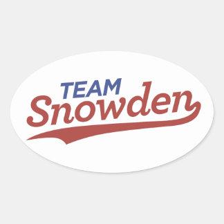 Escritura de Snowden del equipo Pegatina De Ovaladas