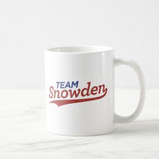 Escritura de Snowden del equipo Taza
