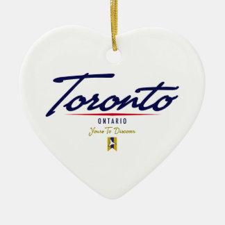 Escritura de Toronto Adorno De Cerámica En Forma De Corazón