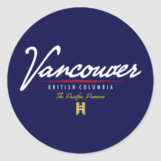 Escritura de Vancouver Pegatina Redonda