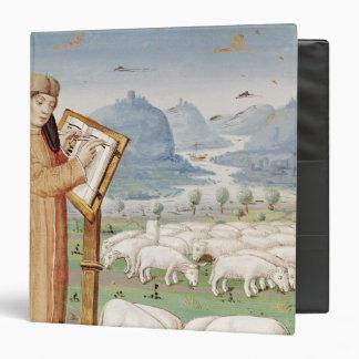 Escritura de Virgil en un campo de ovejas y de cab