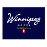 Escritura de Winnipeg Tarjeta Postal