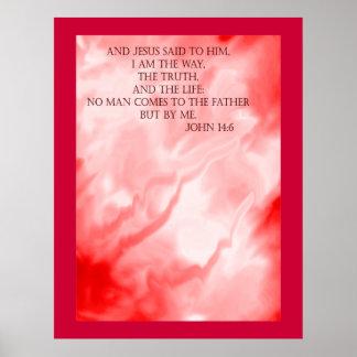 Escritura del 14 6 de Juan en las nubes rojas Impresiones