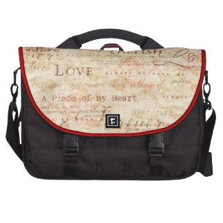 Escritura del amor - acaricie - adore - encajone p bolsas para portátil
