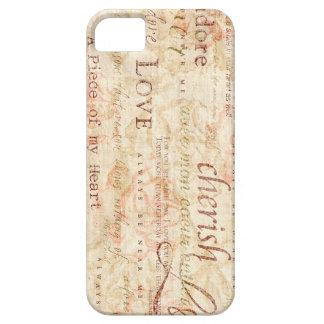 Escritura del amor - acaricie - pedazo de mi iPhone 5 Case-Mate cárcasas